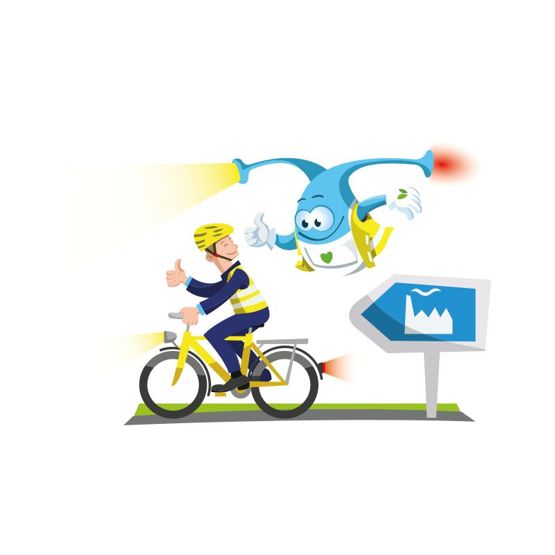 Bollihoppa Cycling to work