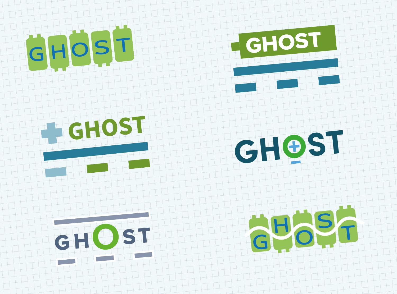 logo drafts GHOST